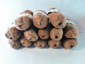 Wolle rotbraun 12 x 50 g Zentex GmbH, FEH 80 % Polyacryl, 20 % Mohair stricken