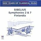 Jean Sibelius - 1000 Years of Classical Music, Vol. 71: The Modern Era - Sibelius: Symphonies Nos. 2 & 7; Finlandia (2016)