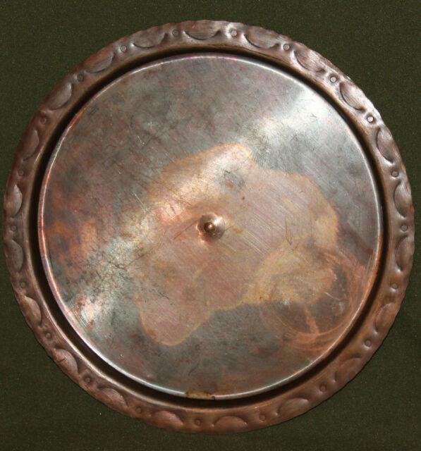 Vintage hand made copper serving tray