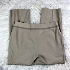 A-K-R-I-S-Punto-Sz-8-Women-Stretch-Beige-Split-Ankle-Pants-Caprice-Flat-Front