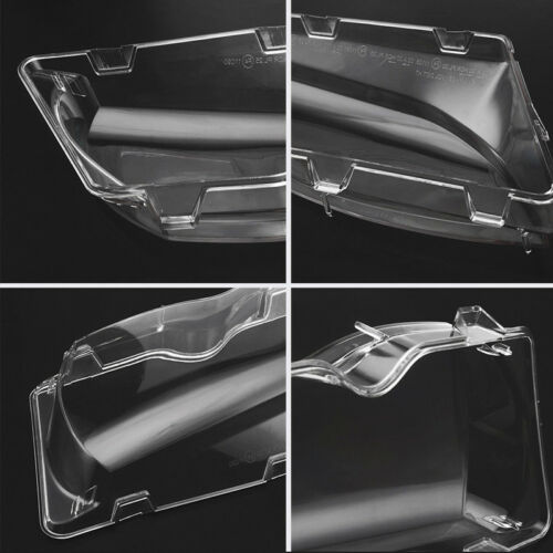 Pair For BMW E46 3 Series 02-05 Clear Headlight Glass Lens Lamp Cover Shell