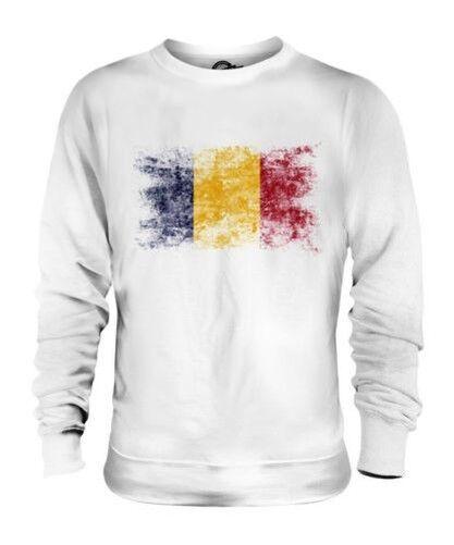 Tschad Distressed Flagge Unisex Pullover Top Tsad Hissflagge Tschadische Tchad