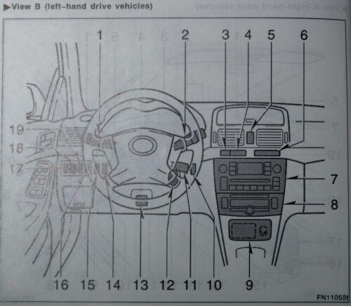 GENUINE TOYOTA AVENSIS OWNERS MANUAL HANDBOOK WALLET 2006-2009 PACK H-950 !
