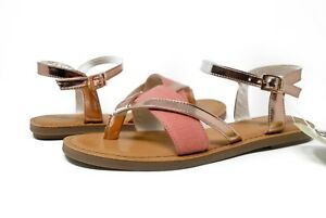 3ef722a5070c TOMS Women s Lexie Sandals 10011790 in Rose Gold Specchio Hemp Sz 6 ...