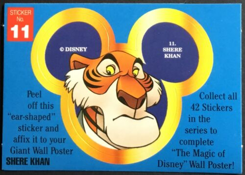 Disney Shere Khan #11 Vintage Stickers Mint Condition!!