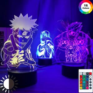 Anime 3d Lamp Naruto Sasuke Kakashi Hinata Obito Itachi Acrylic LED Light Remote