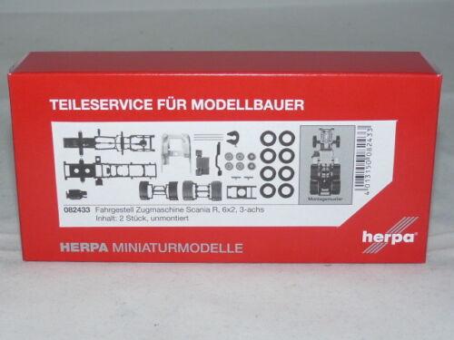 Herpa 082433 tractores-chasis Scania R hidrónico 3-alineación contenido 2 unidades...