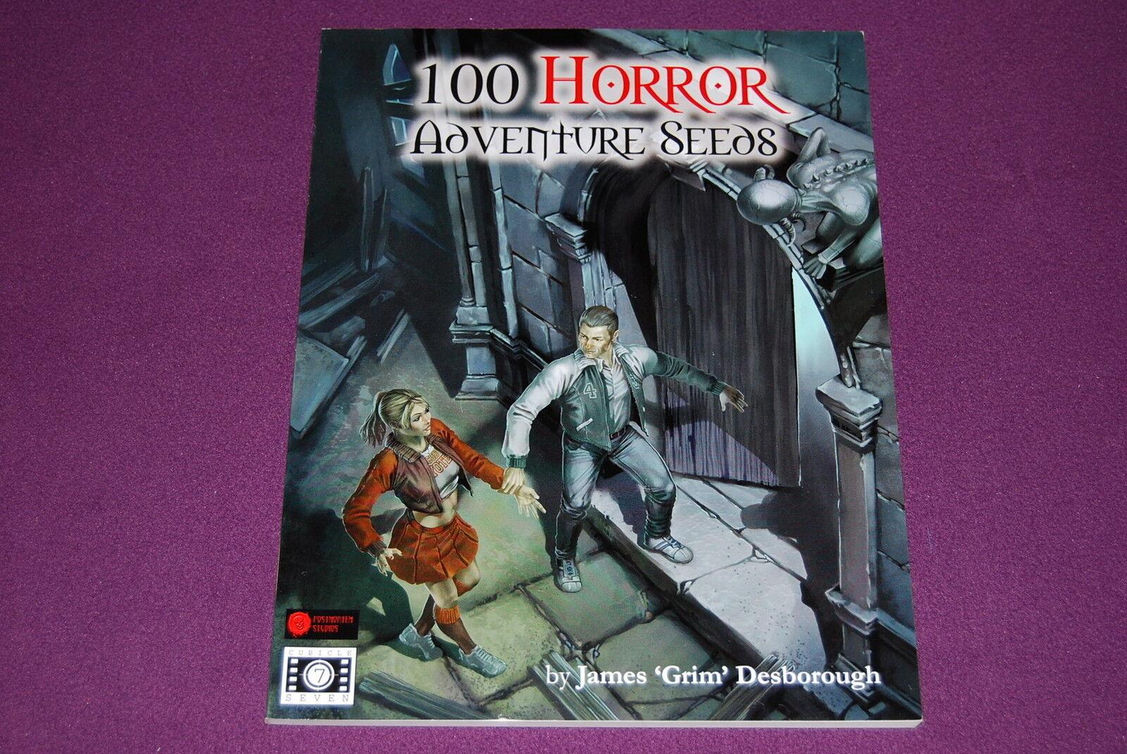 tiempo libre 100 HORROR ADVENTURE SEEDS RPG RPG RPG JDR Jeu de Role - James 'Grim' Desborough  precios razonables