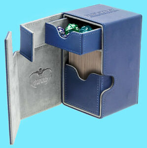 ULTIMATE-GUARD-FLIP-n-TRAY-BLUE-100-XENOSKIN-DECK-CASE-Card-Box-Standard-Size