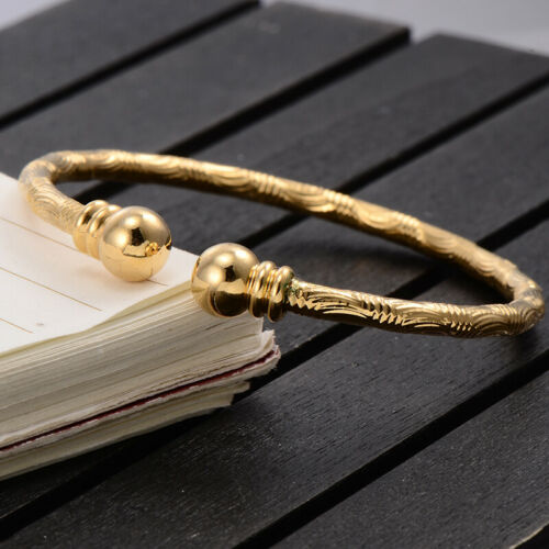 Child Jewelry Kids Childrens Girls Charm Yellow Gold Filled Bracelet Bangle