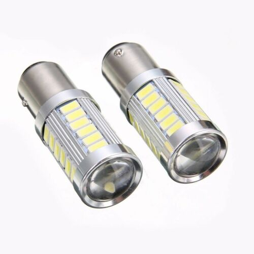 2x//set BA15D P21W 1157 33SMD LED 800LM Car Backup Reverse Head Brake Light Bulbs