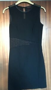 A-Ladies-Black-with-Mesh-cut-out-Dress-size-12-by-Miss-Selfridge