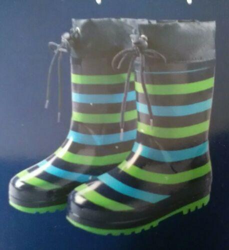Gummistiefel Regenstiefel für Kinder Größe 26 grün// blau gestreift