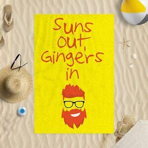 147x99-1cm-Suns-Out-Gingers-en-Trois-Couleurs-Microfibre-Serviette-de-Plage