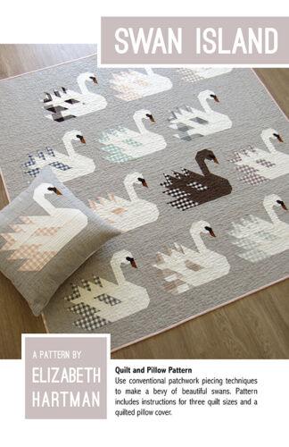 Quilt Pattern SWAN ISLAND Moda ELIZABETH HARTMAN Quilt Pillow 3 SIZES