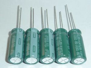 50pcs Taicon Low impedance capacitor 25V1000uf 25V PW 10x30 105 power switching