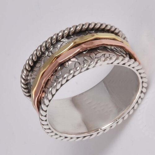 925 Sterling Silver Meditation ring statement ring Spinner Ring All Size JK-33
