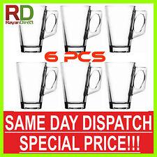 6 pcs Latte Hot Chocolate Tea Coffee Clear Cup Glasses Mugs 240cc 8.44oz 240ml