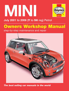 mini cooper s new mini one 2001 2006 haynes manual 4273 ebay rh ebay co uk mini one manual 2012 mini one manual 2008