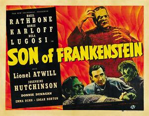 FILM CLASSIC Horror Son Of Frankenstein Karloff Lugosi MOVIE POSTER