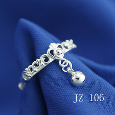 Wholesale 925 Sterling Silver Plated Women Fashion Wide Face Rings SIZE Open 050