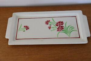 Plato de Pastel Antiguo De Loza Decoración Floral
