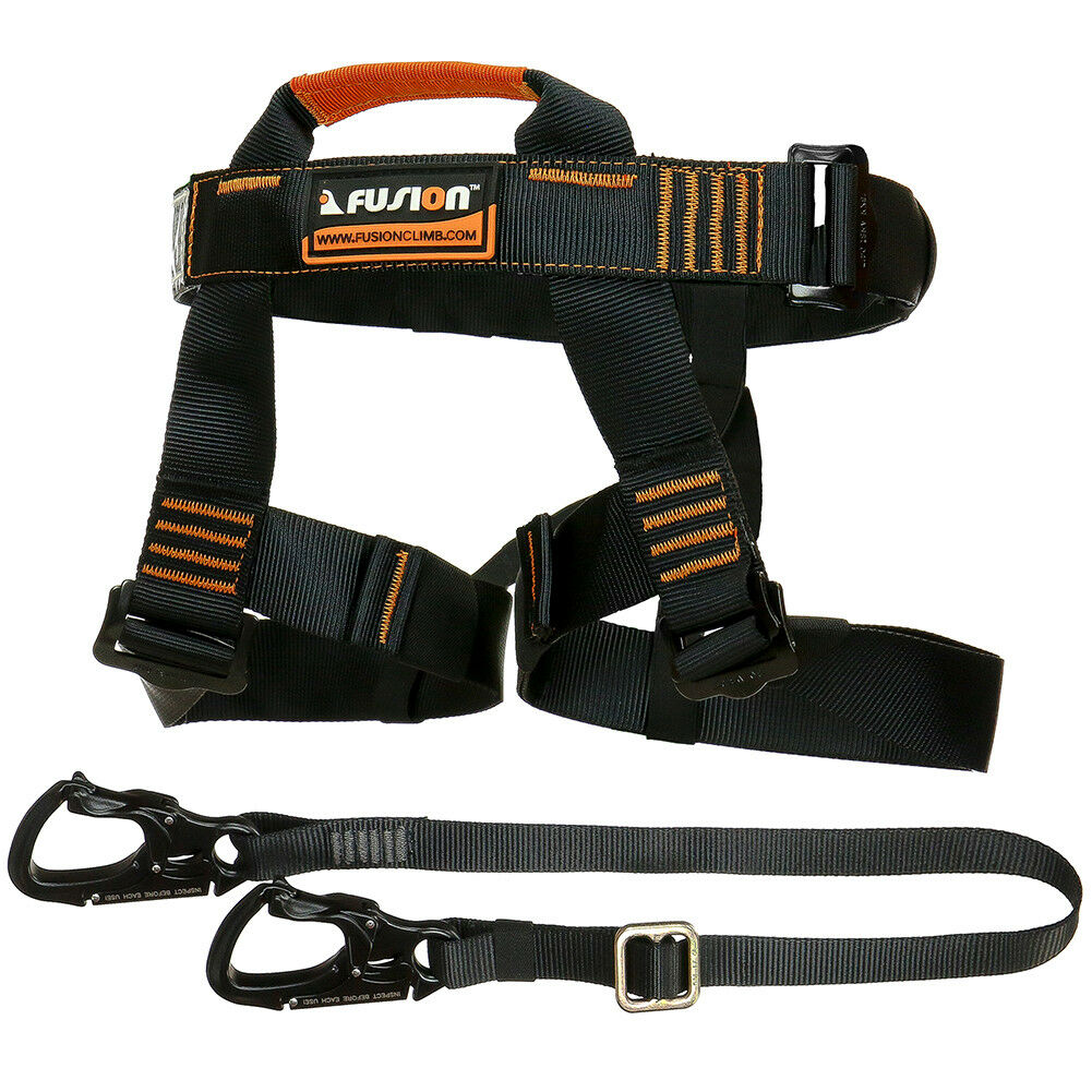 Fusion Tactical Pro Zip Line Kit Harness Lanyard FTK-A-HL-01