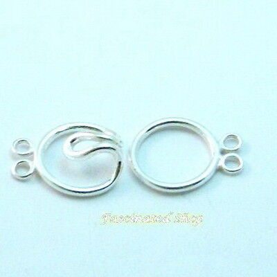 9 x 24 mm 925 Sterling S Silver Hook,Quality Sterling Silver Finding Clasp #622