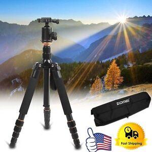 Q666 Portable Professional Tripod&Ball Head Compact Travel for Canon DSLR Camera