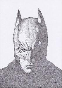 Image of: Photographer Image Is Loading Batmanoriginalpointillismartdarkknightportraita4 My Modern Met Batman Original Pointillism Art Dark Knight Portrait A4 Ink Pen