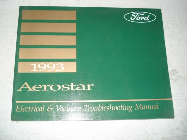 1993 Ford Aerostar Wiring Diagrams Service Manual Shop