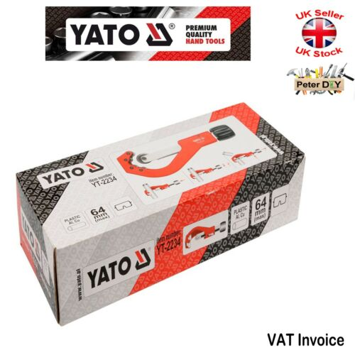 "Yato PVC Plastic Copper Al PIPE CUTTER Quick Adjustment 14-63mm 0.5-2.5/"""