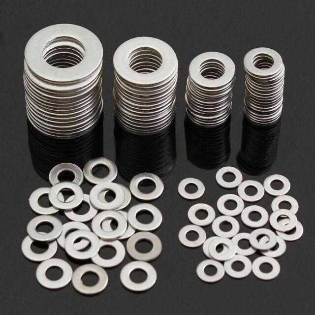105pcs Stainless Steel Washers Metric Flat Washer Screws Kit M3 M4 M5 M6 M8 M10