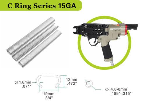 """3//4/"""" crown c ring staples 304 stainless steel hog ring staples by 15 gauge"""