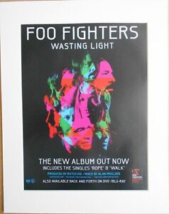 FOO-FIGHTERS-Wasting-Light-2011-Music-Press-Poster-Type-Advert-In-Mount