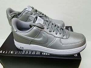 NIKE Air Force 1 07 LV8 SIZE 10 & 12  - Mtllc Silver 718152-404