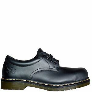 Dr Martens Genuine 2216 Z Classic 3 Eye New Mens Leather Steel Toe Safety Shoes