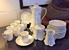 27 Piece HAVILAND Limoges Schleiger No. 667 CHERBOURG Chocolate Pot Set