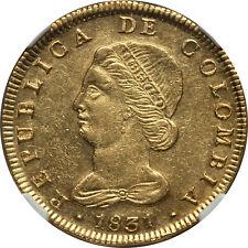 Colombia 1831 Bogota-Rs Republic gold 8 Escudos Ngc Au-58