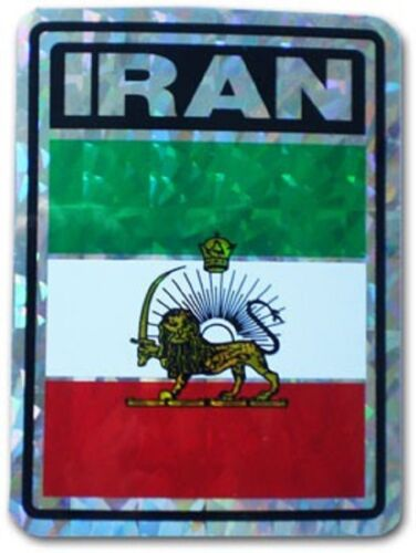 Wholesale Lot 6 Iran Lion Country Flag Reflective Decal Bumper Sticker