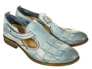Rovers Schuhe Musterschuh 50010 Gr. 41 wie 42 Original Schuhe Neu blau UNIKAT