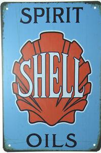 "Shell Motor Oil Car Engine Fuel Gasoline Garage Retro Metal Tin Sign 8x12/"" NEW"