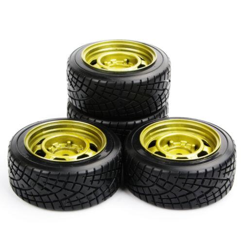 4x62MM 12mm Hex Hard Tire Wheel Rims 6mm Offset For 1//10 HSP HPI Drift RC Car