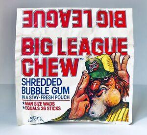 Vintage 1982 Amurol BIG LEAGUE CHEW Bubble Gum Pouch SEALED container Naperville