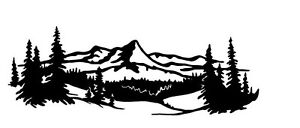 Mountain Scene 8 Decal Van Vehicle Semi Trailer Cross