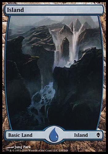 1x Island #235 Zendikar MtG Magic Land Common 1 x1 Card Cards