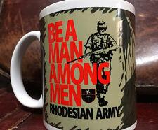 FAL Be A Man Among Men Coffee Mug Rhodesian Camo Rhodesia Selous Scout