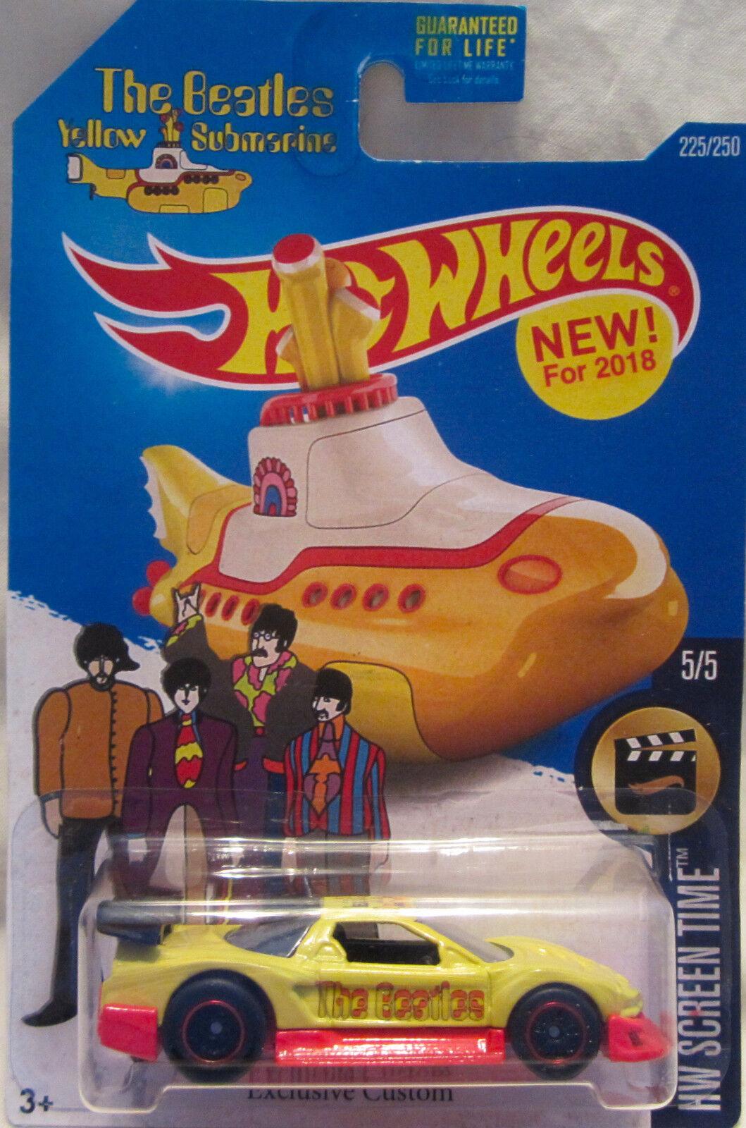 Hot Wheels CUSTOM ACURA NSX The Beatles Yellow Submarine Real Riders Limited