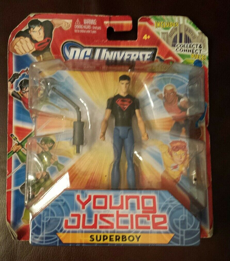 NEW DC UNIVERSE YOUNG JUSTICE SUPERBOY 3.75  FIGURE FIGURE FIGURE COLLECT HALL OF JUSTICE 6169db