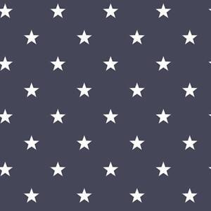G23107 - Deauville 2 Petits étoiles Bleu Marine Blanc Galerie Papier Peint